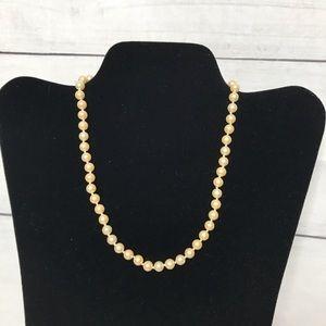 "Vintage Marvella faux pearl necklace 16"""